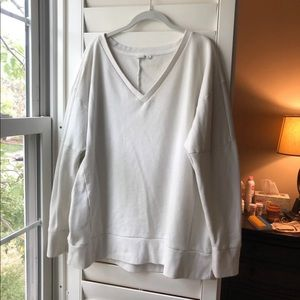 Gap Cream V Neck Sweatshirt Size XL